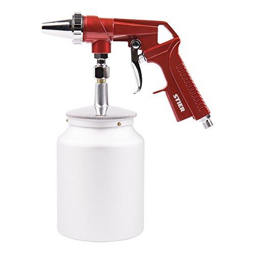 STIER Sandstrahlpistole, 5-10 bar, Sandstrahlgerät, Sandstrahler, Düsendurchmesser 3,5 mm, Luftbedarf 120 l/min, für Körnung 0,2-0,8 mm, entfernt Rost & Farbe