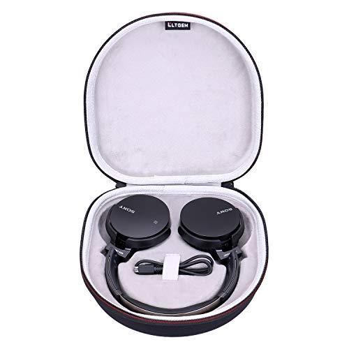 LTGEM - Custodia rigida EVA per cuffie Bluetooth Sony MDR-XB650BT/B Extra Bass - Custodia protettiva da viaggio