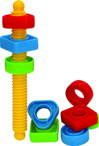 Gowi Toys Colourful Screwing Set for Babies, Toddlers & Children - Construction Toys