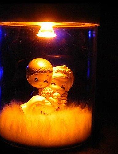 gulot Mini Tisch Licht, 1Licht, Neuheit Solar Schriftzug Dose Glas mit Kunstharz Puppe new-arrival