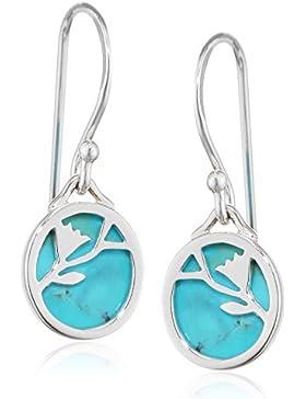 Elements Damen-Ohrhänger 925 Sterling Silber Tuerkis blau E3977T