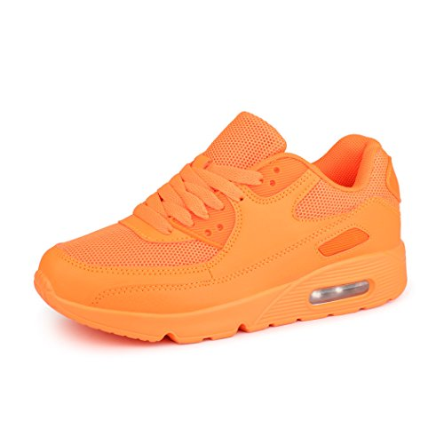 best-boots Unisex Damen Herren Sneaker Laufschuhe Turnschuhe Orange 1245 Größe 38