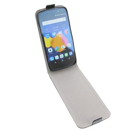 foto-kontor Tasche für Alcatel One Touch Idol 3 4.7 Smartphone Flipstyle Schutz Hülle Schwarz