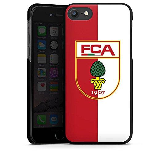 Apple iPhone X Silikon Hülle Case Schutzhülle FC Augsburg Fanartikel Bundesliga Hard Case schwarz