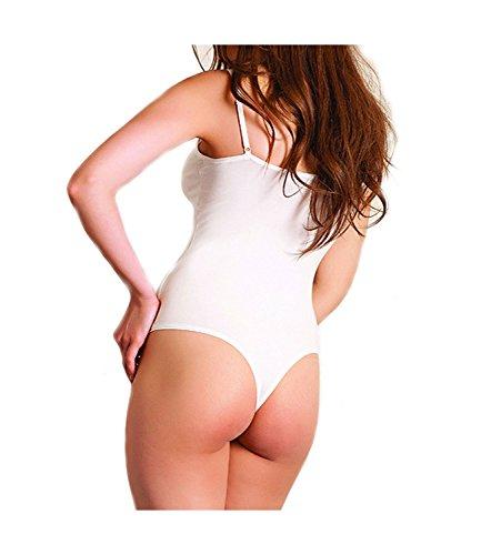 Anil Lingerie Hochwertiger Stringbody Designer Damenbody Modal - Baumwolle Body Damen Beige