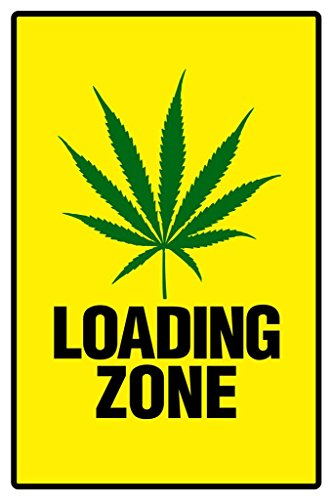 Poster Gießerei Warnschild Weed Loading Zone Marihuana 420Dope Mary Jane, Warnschild 36x54 inches Poster (Weed Mary Jane)