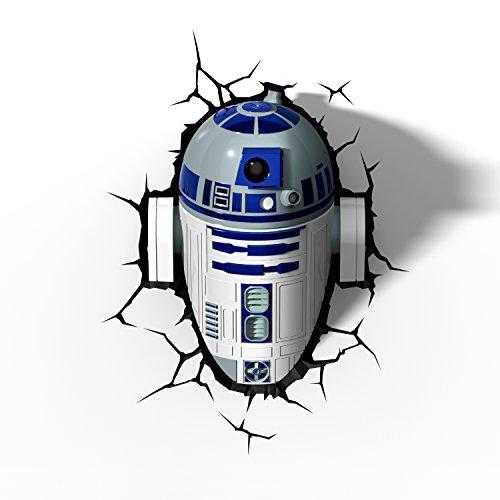 (Star Wars R2-D2 3D Light FX LED Kinderlampe -Nachtlicht für kinder mit automatische Abschaltung und wandaufkleber)
