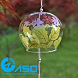 Generic 2pcs glass wind chimes Breath of autumn Japanese wind bell car hanging pendant