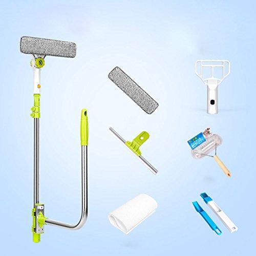 Mingteng Schwamm Rakel mit Pole für Autofensterreiniger Badezimmer Home Dusche Auto (Size : Upgrade Package)