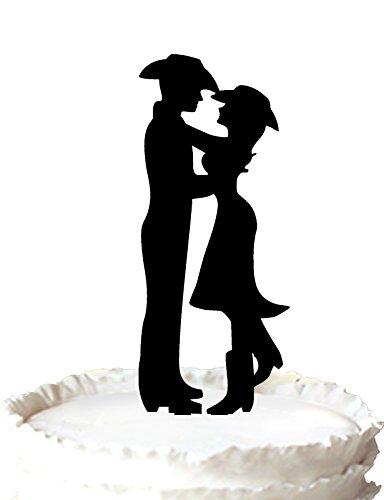 r, Country & Western Hochzeit Dekoration Silhouette Braut und Bräutigam (Western-hochzeit Dekoration)