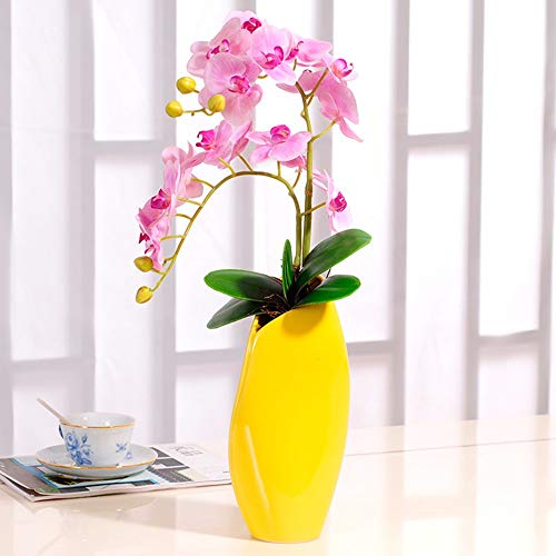 Tackebu orchidea artificiale finto fiore phalaenopsis composizione floreale soggiorno rosa 55 × 34 cm