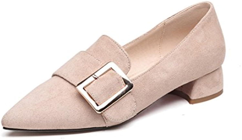 wxmddn printemps petite bouche grossière avec des chaussures chaussures chaussures chaussures pointues pied travail métal boucle chaussures, riz blanc, 40 b07clck1kf parent | Outlet  f46b0e