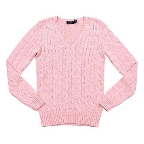 Ralph Lauren Kimberly, Damen Pullover, Hellpink, grüner Reiter (M, Pink)