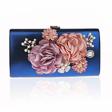 pwne L. In West Frau'S Südkorea'S Handgemachten Blumen Weiblichen Tasche Luxus Bankettabendessen Hand Tasche Tasche Blue