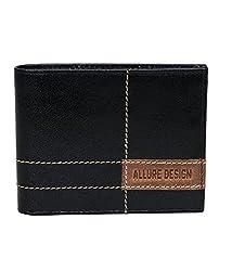 Allure Design Black Leather Wallet for Man