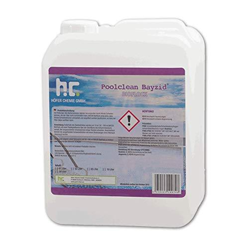 flockmittel pool Höfer Chemie 2 x 5 L Pool Flockungsmittel flüssig BAYZID kristallklares Poolwasser - einfache Anwendung + hocheffektive Wirkung gegen Trübungen