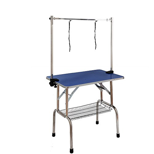 w90d60h76cm-3623630inch-adjustable-portable-stainless-steel-dog-grooming-table-with-arm-noose-access