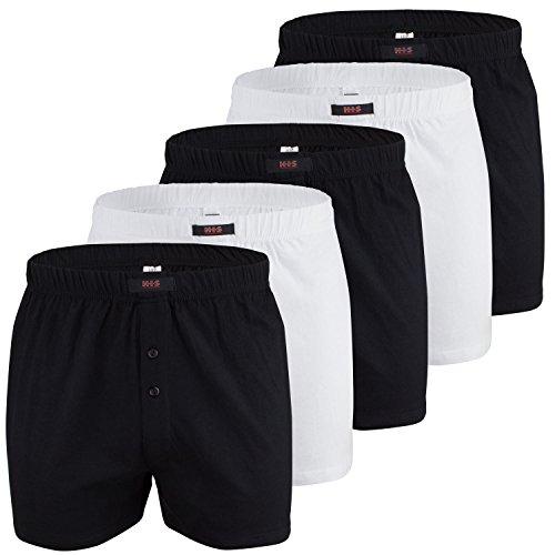 H.I.S weite Herren Boxershorts, Shorts, klassischer Schnitt, 5er Pack (10, Bunt)