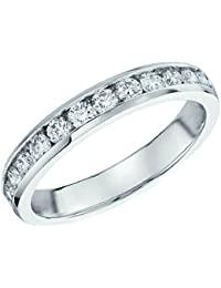 Special Offer..!! 3mm 0.50Ct Round Diamond Channel Set Half Eternity Ring in White Gold