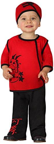 Atosa - 23734 Guerrero Disfraz Chino, Color Rojo, 12 a 24 meses, 23734