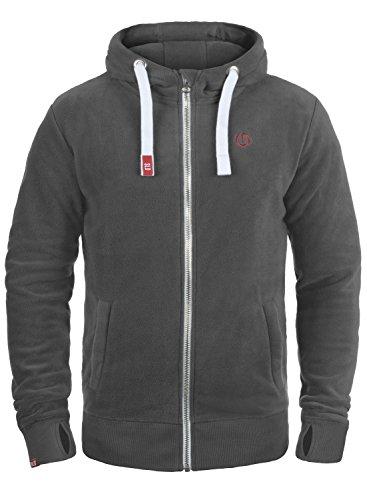 SOLID Loki Herren Sweatjacke Kapuzen-Jacke Zip-Hoodie aus hochwertiger Materialqualität, Größe:M, Farbe:Dark Grey (2890)