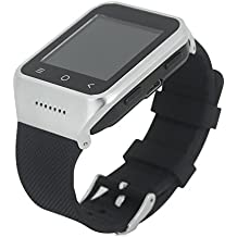 reloj inteligente - Zgpax S8 reloj inteligente Movil 3g Libre (Android 4.4,Dual Core, 512MB RAM, 4GB ROM, Camara 3.0MP, Bluetooth Email GPS WIFI)-Plateado+Negro