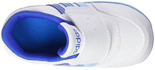adidas  V Jog Crib, chaussure de sport Unisexe - enfant Bianco (Ftwbla/Azul/Azusol)