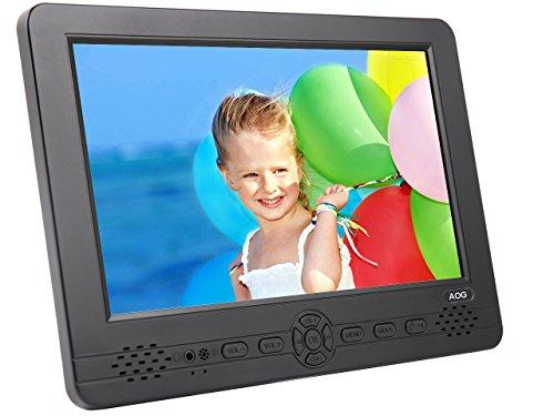 AG-101 10.1 Zoll Tragbarer Fernseher mit Freeview DVB-T / DVB-T2 H.264-H.265 HEVC Tuner - Zum Verwenden als kleiner Fernseher, Little Fernseher, Auto Fernseher mit Zwei Lautsprechern und mit Kopfhöreranschluss an der Vorderseite der TV -HD Antenne Inbegriffen