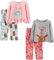 Simple Joys by Carter's 4-Piece Pajama Set (Poly Top & Fleece Bottom) Pajama-Sets Bambina (Pac