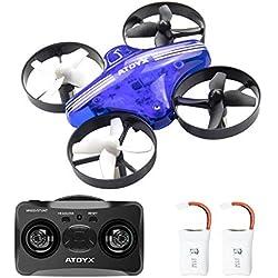 ATOYX AT-66 Drone Mini,Quadcopter avec Mode sans Tête Hauteur Fixe Flips 3D ,Mode 6-Axe Gyro Headless Jouet d'hélicoptère Cadeau pour Enfant/ Débutant - Bleu