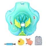 Luchild Flotador Cuello Bebe Ajustable Inflable Doble Airbag Flotador de Natación para Bebés Anillo de Flotador de bebé Recién Nacido Baño Anillos Seguridad Bebés de 6 a 30 Meses