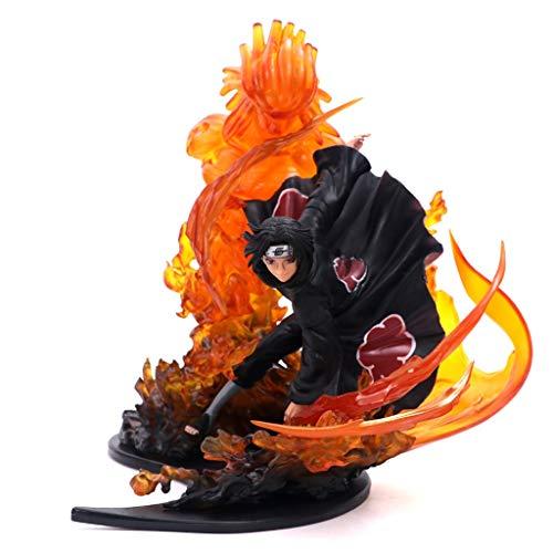 r Anime Charakter Modell Naruto Flamme Sasuke Boxed handgemachte PVC Modell Geschenk Sammlung Handwerk Heiligen Statue Dekoration (ca. 21cm) Jungen Geschenk Comic-Statue ()