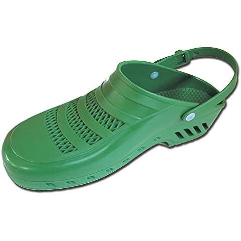 La Empresa Gima 26472 Zuecos Profesionales, con Cinturón y Orificios, 35-36, Verde