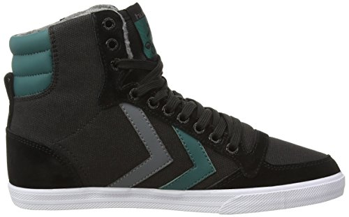 hummel SSTADIL WAXED CANVAS Unisex-Erwachsene Hohe Sneakers Schwarz (Black 2001)