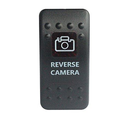 bandc Rückseite Kamera Rocker Toggle Switch On/Off SPST rot LED 5Pins für Narva ARB Carling Stil Ersatz Wasserdicht IP66Auto Boot 12V/24V -