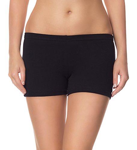 Ladeheid Damen Shorts Radlerhose Unterhose Hotpants Kurze Hose Boxershorts LAMA05 (Schwarz13, M/L)