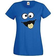 831270a7bf Keks Monster Kinder Mädchen T-Shirt Gruppen Kostüm Karneval Fasching  Verkleidung Party JGA