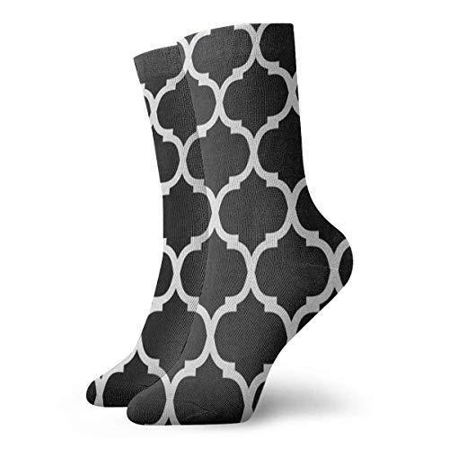 Sportliche Herrensocken Crew Socks Black White Moroccan Trellis Amazing Womens Stocking Decor Sock Clearance for Girls - Asics Kleinkind-socken