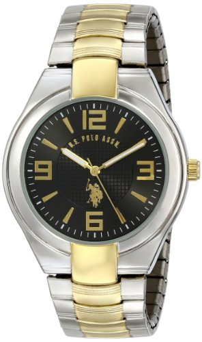 U.S. Polo Assn. Classic Men's USC80016 Two-Tone Analogue Black Dial Expansion Watch
