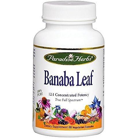Paradise Herbs Banaba Leaf 12:1 Extract 250 mg-60 Vegi Caps by Paradise Herbs