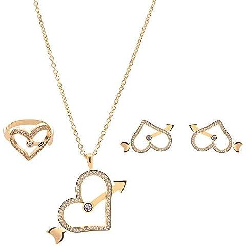 Avorio perla goccia collana Set con 14k Vintage placcato oro - grande damigelle d'onore gioielli , 18k/61152216