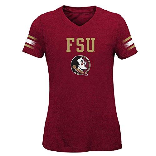 NCAA Florida State Seminoles Youth Girls Goal Line Basic Tee, Youth Girls X-Large(16), Garnet (T-shirt State Youth)