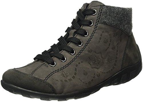 Rieker L6548, Sneakers Hautes Femme Gris (Anthrazit/fumo/anthrazit)