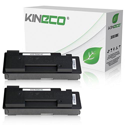 Preisvergleich Produktbild 2 Toner kompatibel zu Kyocera TK-340 TK340 für Kyocera FS-2020D, FS-2020DN - 1T02J00EU0 - Schwarz je 12.000 Seiten