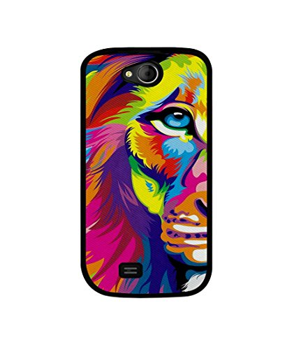 Casotec Lion Design Canvas Printed Soft TPU Back Case Cover for Micromax Canvas Elanza A93  available at amazon for Rs.349