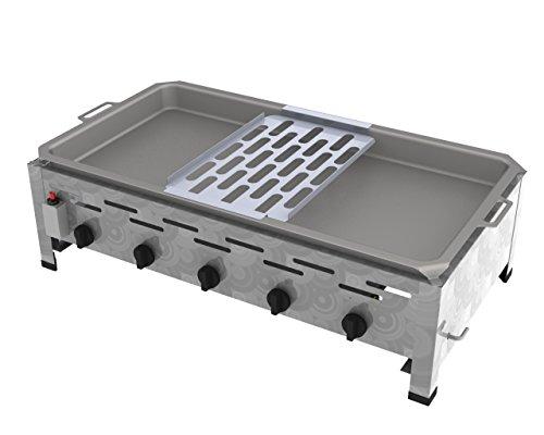 Reibekuchenbräter ChattenGlut, 5-flammig 22KW, Flüssiggas, Edelstahl, Tischgerät