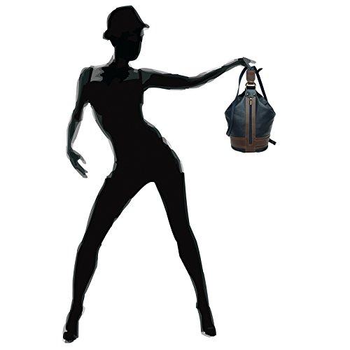 CASPAR Fashion, Borsa a zainetto donna Dunkelblau