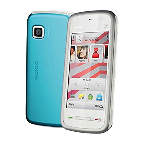 Nokia 5230 Navigation Edition Smartphone (UMTS, Bluetooth, GPS, 2 MP, Ovi Karten) white blue