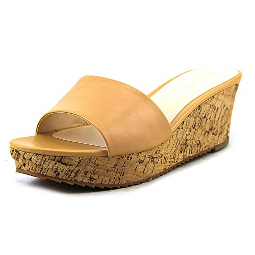 Nine West Confetty Pelle Scarpa con la Zeppa Natural Nude