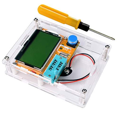 Hemobllo Digital-Transistor-Prüfvorrichtung DIY NPN PNP Widerstand Kapazitäts-Induktivitäts-Meter-Messgerät